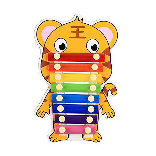 Baidercor Cute Educational 8 Tones Xylophone Toys Tiger Percussion by Baidercor