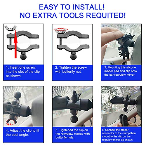 Rexing APEMAN KDLINKS X1 and Most Car Camera VAVA Vantrue GPS Roav by Anker Car Recorder Anumit Universal Dash Camera Rear View Mirror Mount Holder Kit for YI Dash Cam Mount Aukey Crosstour