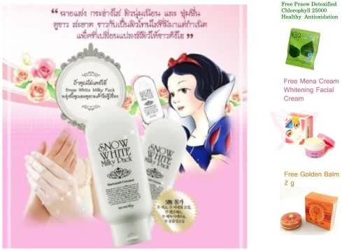 Best Mask Cream Secret Key Snow White Whitening Milky Pack Mask for Face and Body 200 Ml X 2 Tubes