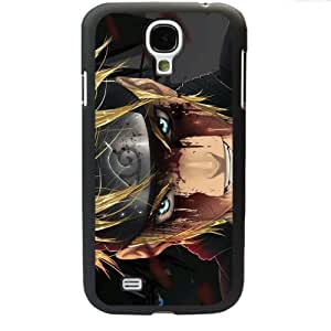 Naruto Manga Anime Comic Uzumaki Naruto Samsung Galaxy S4 SIV I9500 TPU Soft Black or White case (Black) by Maris's Diary
