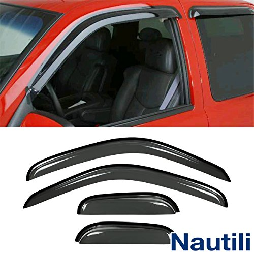 VioletLisa New 4pcs 95-04 Tacoma Access/Extended Cab Dark Smoke Out-Channel/Outside Mount Style Wind Sun Rain Guard Vent Shade Deflector Window Visors
