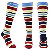 Blue Beat Women Athletic Compression Socks for