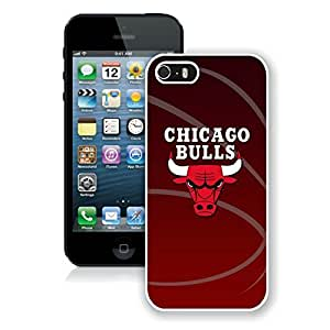 New Custom Design Cover Case For iPhone 5s Generation Chicago bull 11 White Phone Case