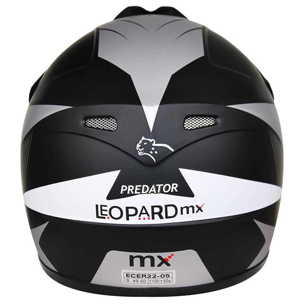 Children Quad Bike ATV Go Karting Helmet 51-52cm Leopard LEO-X19 PREDATOR Kids Motocross HELMET /& GLOVES /& GOGGLES Yellow M