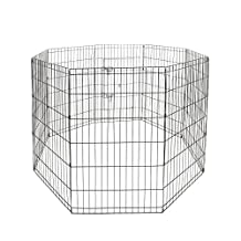 Magshion S-XXL 5 Size Dog Animal Popup Playpen Fence Large Metal Crate Wire Cage (XL-42inch)