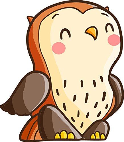 Shinobi Stickers Cute Happy Smiling Kawaii Owl Cartoon Vinyl Sticker (2