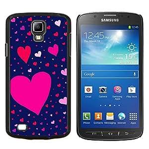 EJOOY---Cubierta de la caja de protección para la piel dura ** Samsung Galaxy S4 Active i9295 ** --Modelo rosado rojo de San Valentín azul