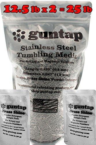 Stainless Steel Tumbling Media Pins - 0.047'' Diameter, 0.255'' Length (25 lb Pack) by guntap