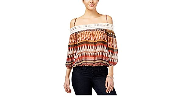 97a39b337b0 BCX Womens Sheer Cold-Shoulder Pullover Blouse Brown XXS - Juniors at  Amazon Women's Clothing store: