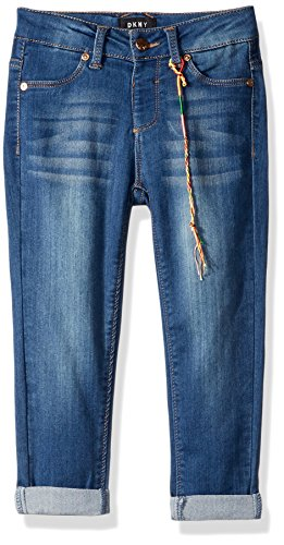 DKNY Big Girls' Jean, Step Jegging Indigo Wash, 8 - Dkny Kids