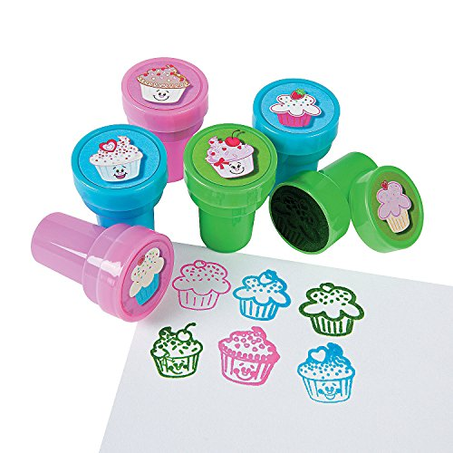 Fun Express - Cupcake Stampers - Stationery - Stamps - Stamps - Self Inking - 24 Pieces -