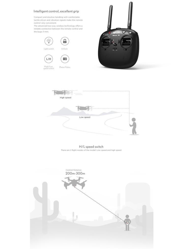 Siviki MJX Bug3 B3mini Brushless Motor RC Aircraft Quadcopter Remote Control Drone Toy by Siviki (Image #4)
