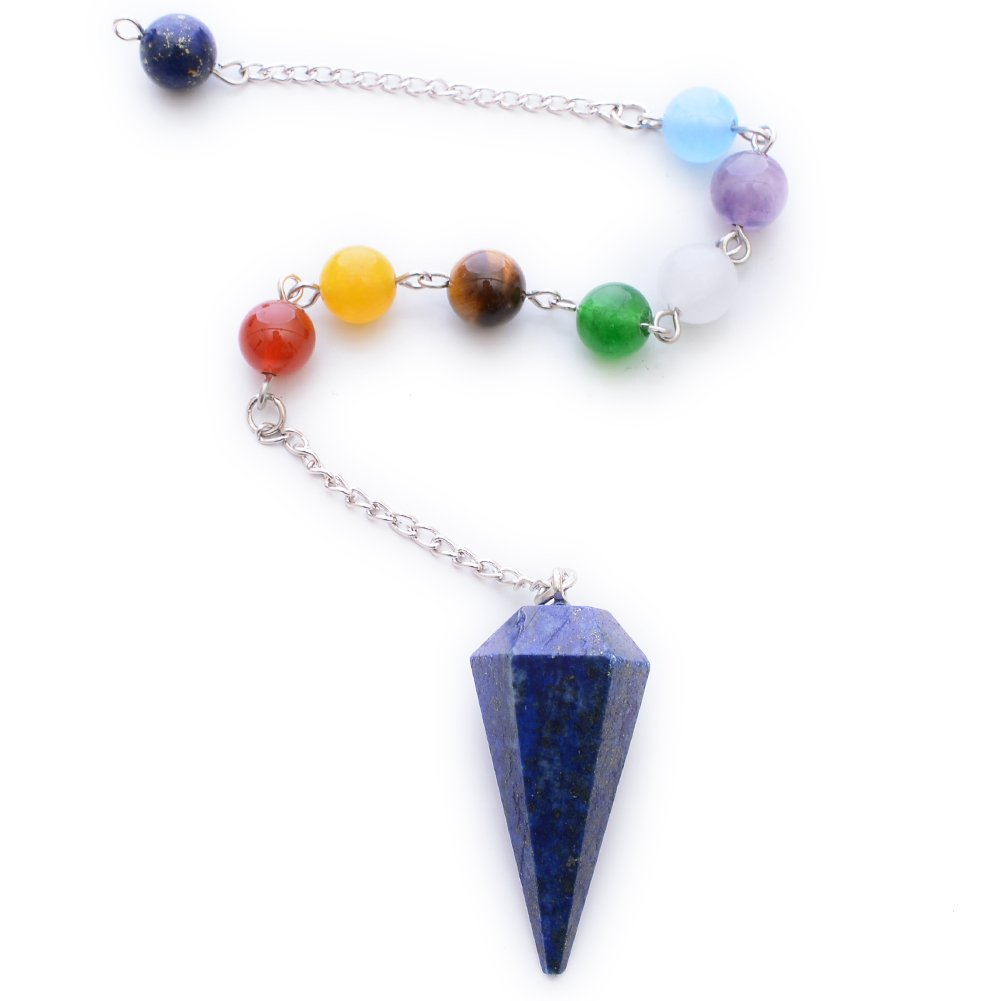 HYBEADS Natural Crystal Pendulum 12 Facet Reiki Charged