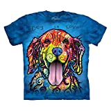 The Mountain Dog is Love Adult Bright Blue T-shirt XXL