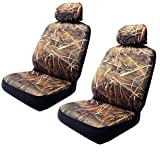 camouflage seat cover for cars - Muddy Water Forest Swamp - Wild Camouflage Seat Cover Set - 2 Front Camo Seats With Headrest Go Duck Hunting
