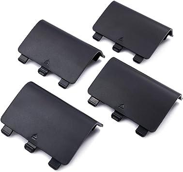 Paquete de 4 Cubiertas de batería de Repuesto para Xbox One, Cubierta de batería para Xbox One, Xbox One S, Cubierta de reparación para Mando inalámbrico Xbox One: Amazon.es: Electrónica