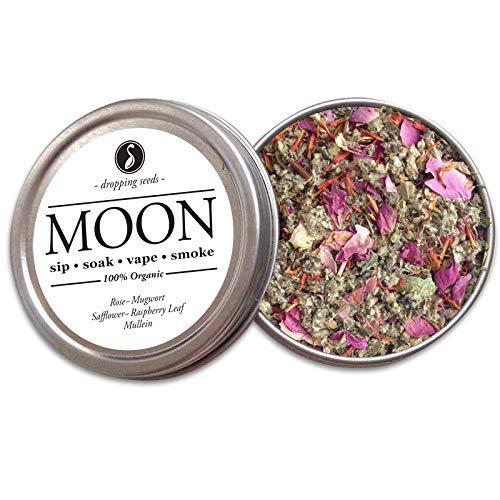 (Organic Herbal Smoking Meditation Blend For Inward Reflection l MOON Tin (10 G))