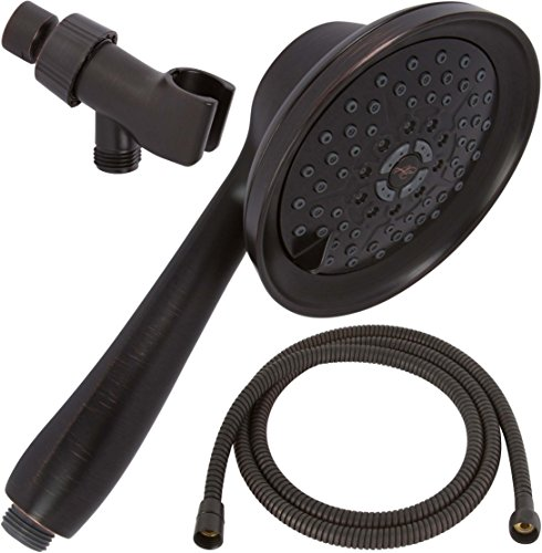 Massage & Mist Handheld Shower Head Kit - Great High Pressure, Adjustable Hand Held Showerhead With Hose & Mount - Indoor And Outdoor Modern Bath Spa Fixture - Oil-Rubbed Bronze