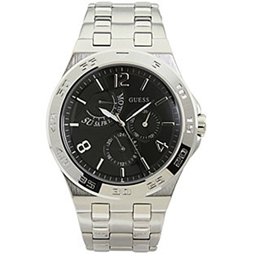 Reloj Hombre Guess Dial Negro Acero Inoxidable Mulit Quartz U13568G1