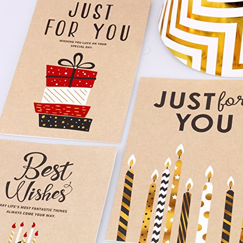Birthday Card - 12 Pack Happy Birthday Cards Set - Unique Assorted Designs Blank on the Inside Birthday Greeting Card Bulk with Envelopes 4 x 6 Inches by EStars (Image #1)