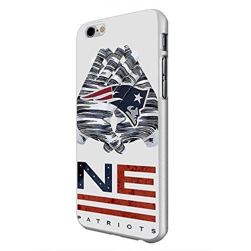 Hard Plastic England Patriots NFL for iPhone 6 Plus White case
