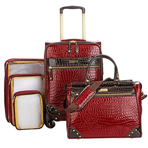 Samantha Brown 5-piece Classic Luggage Set - Burgundy