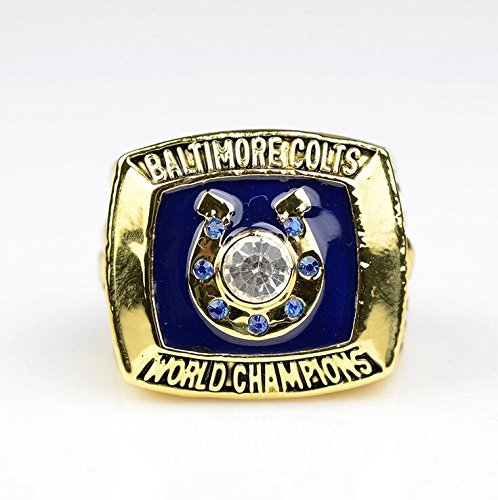 1970 Baltimore Colts championship rings Replica Fans Souvenir,5th Super Bowl Championship rings,Size 11