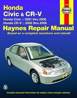 honda civic 2001 2010 crv 2002 2009 haynes repair manual haynes rh amazon com 2001 saturn repair manual free 2001 saturn l200 repair manual free