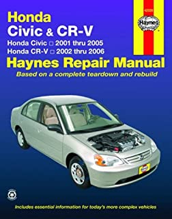 honda civic 2001 2010 crv 2002 2009 haynes repair manual haynes rh amazon com 2005 honda civic repair manual free download pdf 2005 honda civic repair manual free download