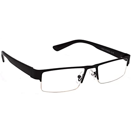 fc65f60c0d16 HRINKAR Rectangle Half Rim Portable Reading Glasses For Men And Women  (Black
