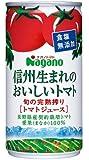 ナガノトマト 信州生まれのおいしいトマト(食塩無添加) 190g×30本