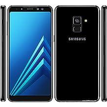 "Samsung Galaxy A8 (2018) Factory Unlocked SM-A530F/DS DUAL SIM 64GB/4GB Ram, 5.6"" Screen, 16MP Rear Camera + Dual Frontal Camera 16MP+8MP, IP68, 4G LTE International Version No Warranty (Black)"