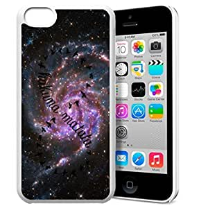 Africa Ancient Proverb HAKUNA MATATA Color Accelerating Universe Star Design Pattern HD Durable Hard Plastic Case Cover for iPhone 5C