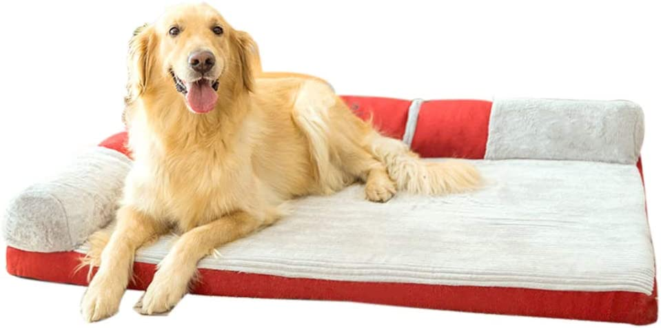 WEWE PET Dog Bed,Orthopedic Chaise Sofa Couch Pet Bed Removable Cover for Dogs & Cats Mattress Mat