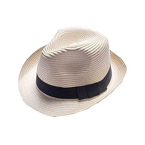 Providethebest Fedora del Sombrero Flexible Sombrero de Playa del Verano  del Casquillo de la Paja del a9cdabf78f8