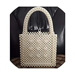 Women's Pearls Crystal Beading Box Totes