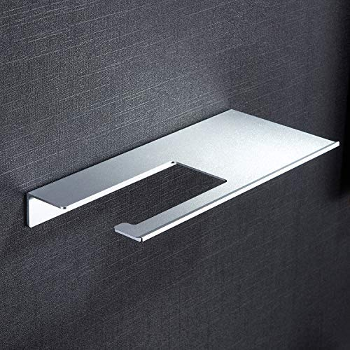 ZUNTO Bathroom Shelf/Bathroom Shelves - Adhesive Shower Shelves with Bathroom Hand Towel Bar Holder No Drilling, Aluminum