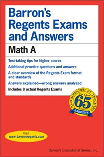 Math A (Barron's Regents Exams and Answers Math a): Lawrence S ...