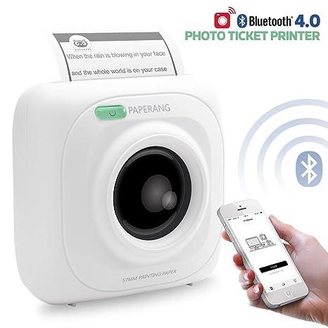 Amazon.com: Mini impresora de papel inalámbrico Bluetooth ...