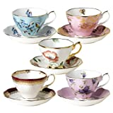 Royal Albert 100 Years of Royal Albert Teacups and Saucers, 1950-1990, Set of 5