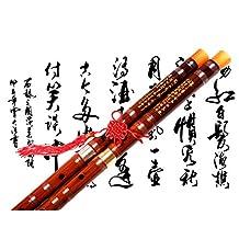 Bamboo Flute Dizi,NICOSHINE Traditional Handmade Chinese Musical Instrument In D Key(Single insert)