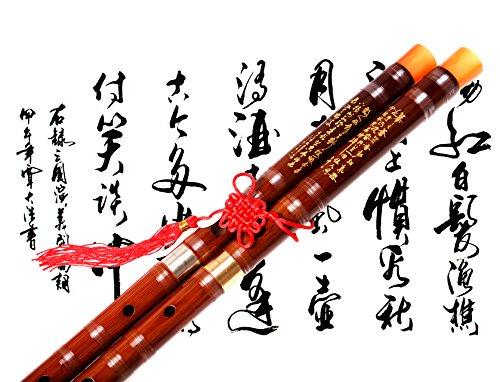Bamboo Flute Dizi,NICOSHINE Traditional Handmade Chinese Musical Instrument In C Key(Single insert)