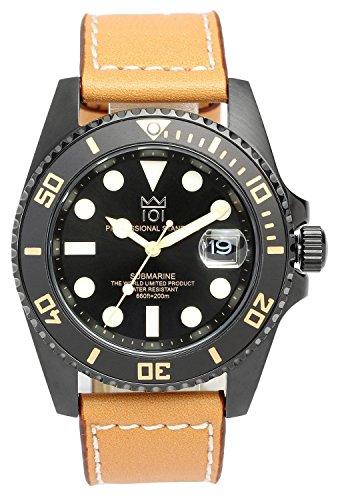 HYAKUICHI 101  ヒャクイチ ダイバーズ 20気圧防水 腕時計 ウォッチ レザーベルト ロングタイプ メンズの商品画像