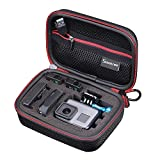 Smatree Carrying Case for GoPro Hero 6 5 4 3+ 3 2 1 GOPRO HERO (2018) (Black & Red)-Extra-Small