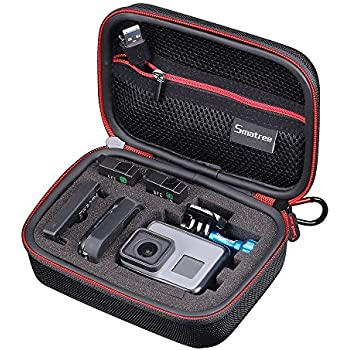 Smatree SMACASE-G75-BR Carrying Case for Gopro Hero 6/5/4/3+/3/2/1 (Black & Red)