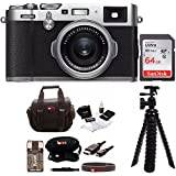 Fujifilm X100F Digital Camera with 64gb Gadget Bag (Silver)