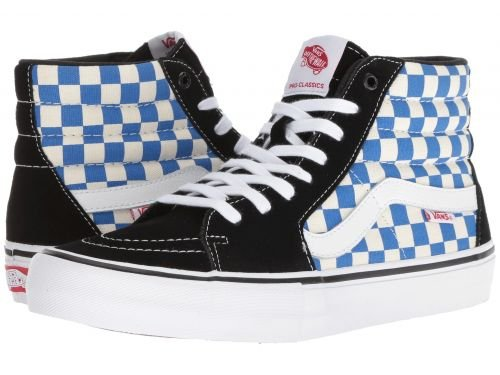 d80db3738bc88f Galleon - Vans Mn Sk8hi Pro Checkerboar Shoes 12 D(M) US (Checkerboard)  Black Victoria Blue