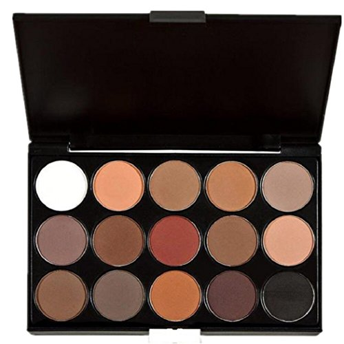 Gillberry 15 Colors Women Cosmetic Makeup Neutral Nudes Warm Eyeshadow Palette