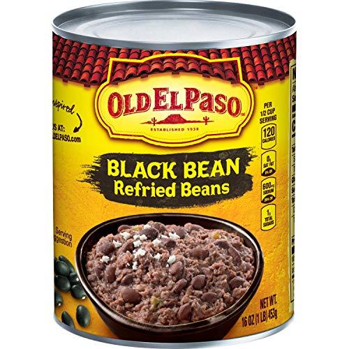 Black Refried Beans - Old El Paso Black Bean Refried Beans, 16 Ounce