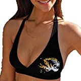 NCAA Missouri Tigers Ladies Fanatic Bikini Top - Black (Small)